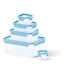 Achat en ligne Lot 5 boitesconservation plastique 0,15L/0,25L/0,55L/1L/3,7L