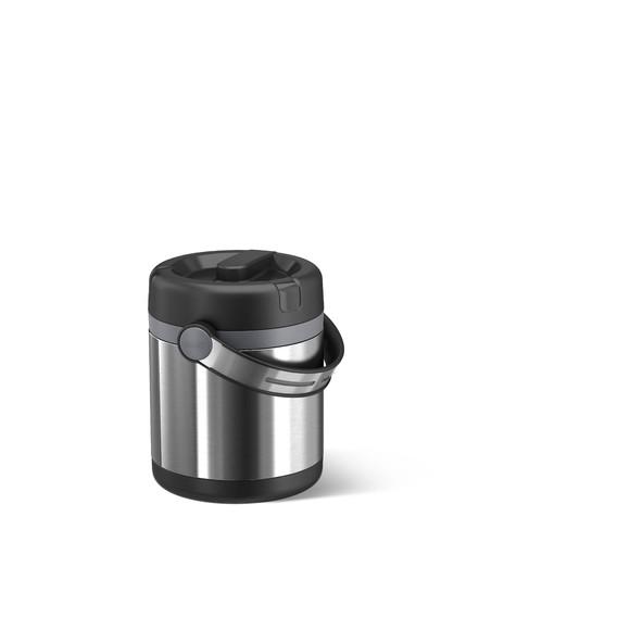 acquista online Recipiente isolante in acciaio inox nero 1,2L