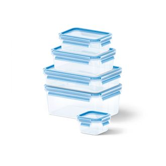Lot 5 boites conservation plastique 0,25l/0,55l/1l/1,2l/2,3l
