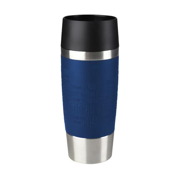 Tazza termica da viaggio blu in silicone 0,36L