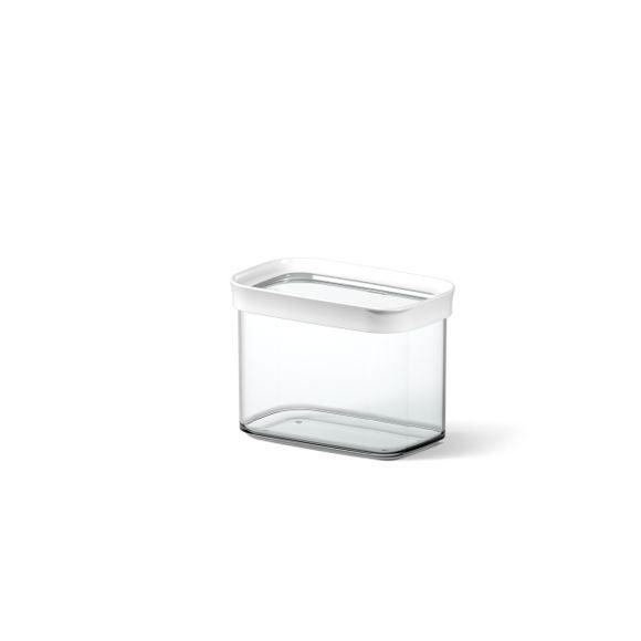 Contenitore rettangolare in plastica con coperchio 1L