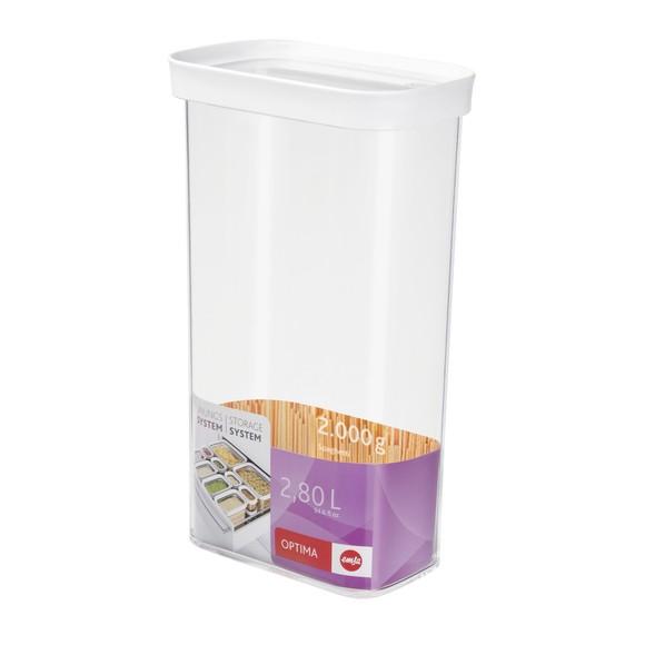 Contenitore rettangolare in plastica con coperchio 2,8L