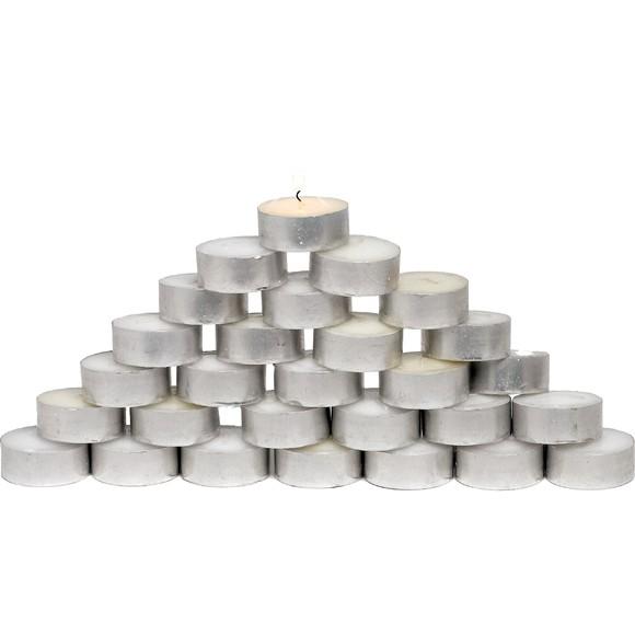 50 bougies chauffe-plat 8h en cire blanche