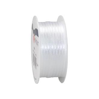Bobine de ruban en satin blanc 3 mm x10 m