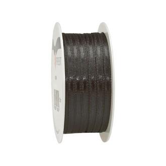 Bobine de ruban en satin noir 3 mm x10 m