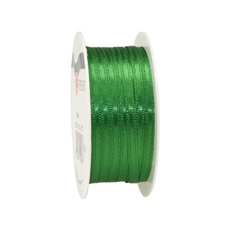 Bobine de ruban en satin vert 3 mm x10 m