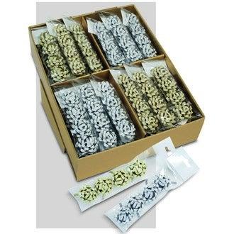Set de 4 noeuds paillettes autocollants  or ou argent 4,5cm