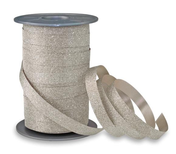 Achat en ligne Bolduc glitter grès 10mmx10m