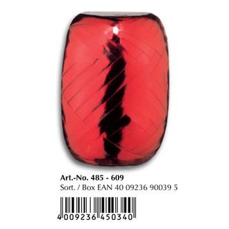 Bobino bolduc metal rouge 20m