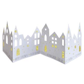 Ville papier à assembler blanc or 80x21cm