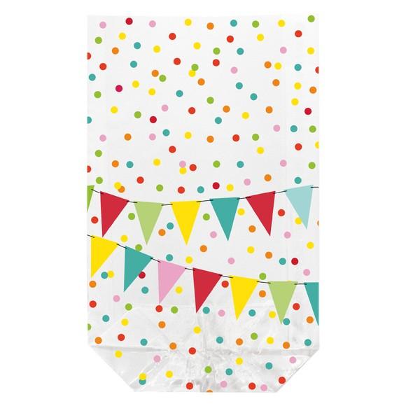 10 sacchetti trasparenti stampati da 11,5x19 cm