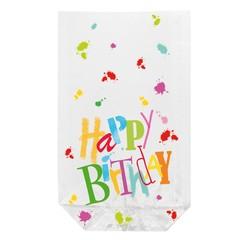 acquista online Sacchetti trasparenti stampati happy Birthday, 10 pezzi