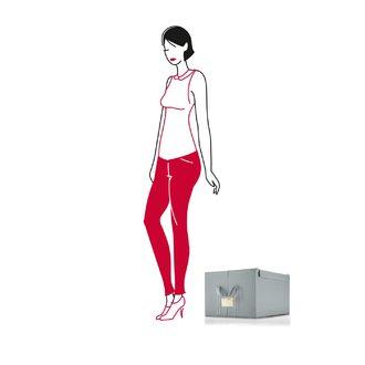 REISENTHEL - Boîte de vêtements en tissu gris avec anse pour étiquette 60L