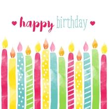 Achat en ligne 20 Serviettes Bougies d'anniversaire 33x33 cm