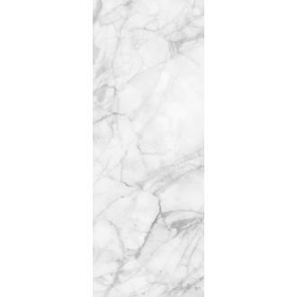 Tableau mémo verre magnétique décor marbre blanc 30x80cm