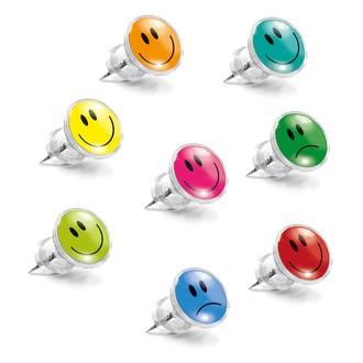 Set de 8 punaises décoratives smileys