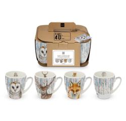Achat en ligne Coffret 4 mugs animaux de la forêt
