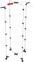 Achat en ligne Etendoir à linge 4 étages en acier blanc 40M 71x71x169cm