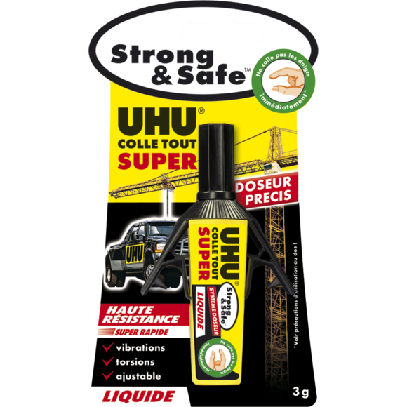 Colle strong & safe liquide 3g