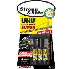 Achat en ligne Glue strong & safe liquide 3x1g