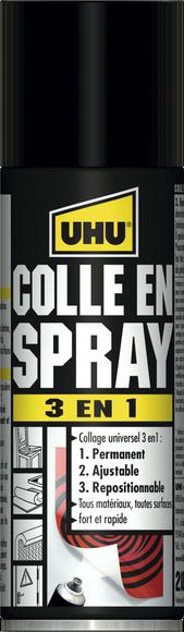 Achat en ligne Colle contact en spray 3 en 1