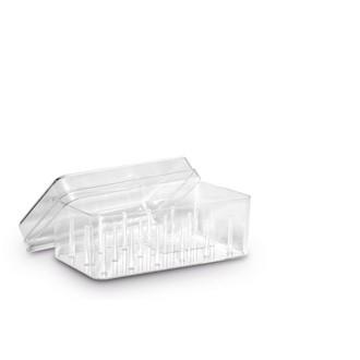 ECLAIR PRYM - Boîte de rangement pour 18 bobines en plastique transparent 13,6x6x7,8cm