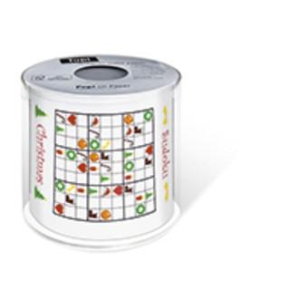 Papier toilette de noël imprimé sudoku