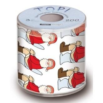 Papier toilette imprimé noël