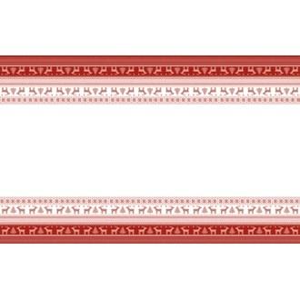 Nappe pliée intissée helene red 138x220 cm