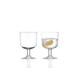 Set di 6 bicchieri inimpilabili in vetro, 36cl