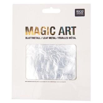 RICO DESIGN - étui de 6 feuilles métal argent