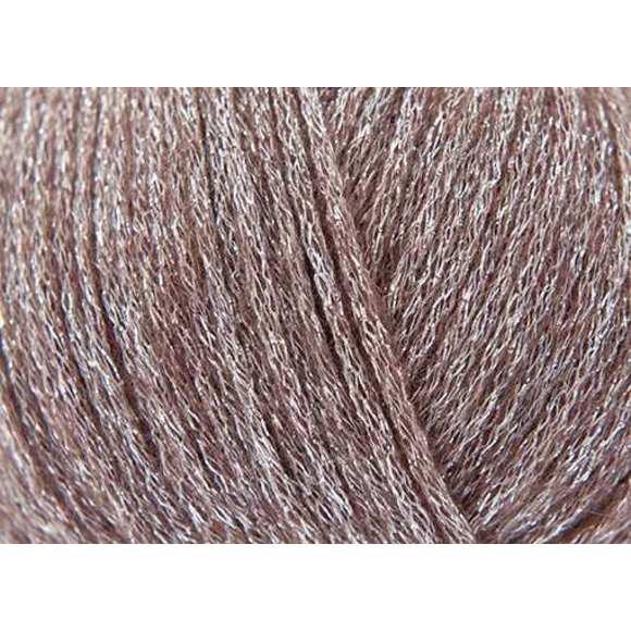 Pelote de laine métallisé praline 50gr