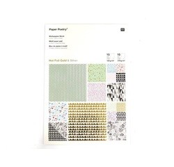 Achat en ligne Bloc de 30 feuilles A4 pour scrapbooking motif graphique