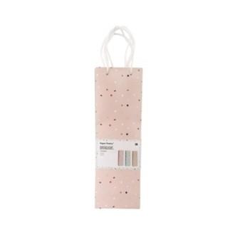 RICO DESIGN - Lot de 3 sacs cadeaux bouteilles imprimé tropical rose et cuivré