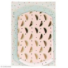 Achat en ligne Lot 6 pochettes cadeaux tropical rose et cuivré