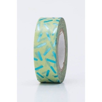 Rico Design - Masking tape stracciatella vert turquoise hot foil