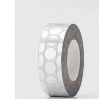 RICO DESIGN - Masking tape pois argent hot foil