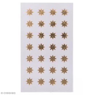 RICO DESIGN - 112 stickers autocollants étoiles dorées 12mm