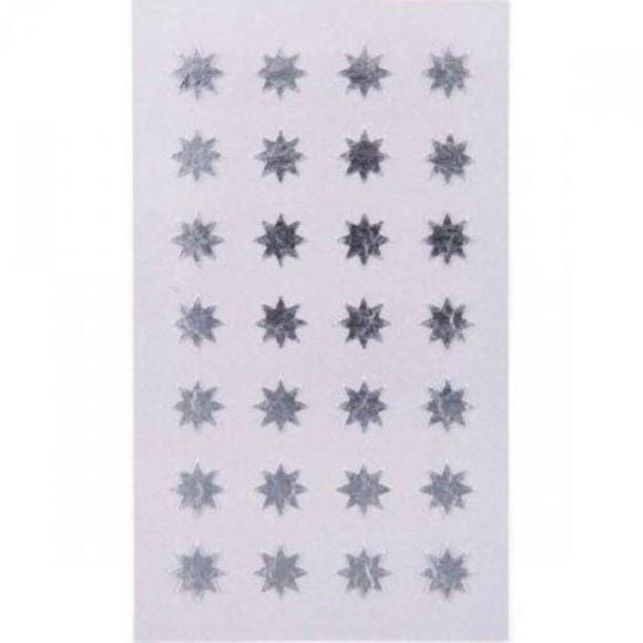 Achat en ligne 112 stickers autocollants étoiles argentées 12mm