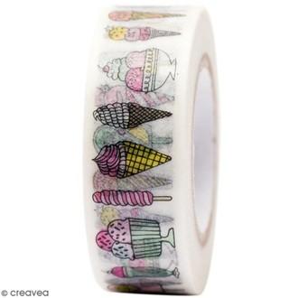 Rico Design - Masking tape crème glacé