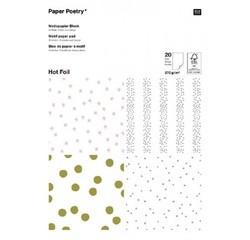 Achat en ligne Bloc de 30 feuilles A4 pour scrapbooking -Foil Point