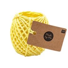 Achat en ligne 20m Ficelle de papier jaune 1mmØ
