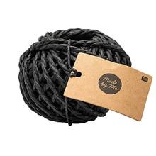 Achat en ligne Ficelle papier noir 3,5mm 20m