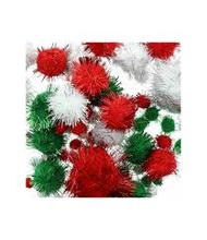 Achat en ligne Set pompons rouge et vert