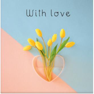 PICKMOTION - Carte with love tulipe 13x10,5cm
