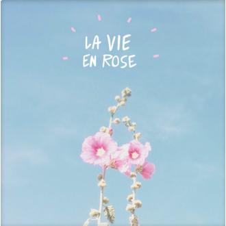 PICKMOTION - Carte la Vie en rose fleur 13x10,5cm