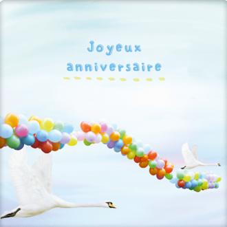 PICKMOTION - Carte joyeux anniversaire ballon 13x10,5cm