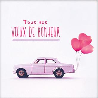 PICKMOTION - Carte Tous Nos Vœux De Bonheur 12cm