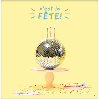 PICKMOTION - Carte C'Est La Fete Boule Facette 12cm