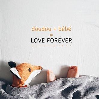 PICKMOTION - Carte Doudou+Bebe 12cm